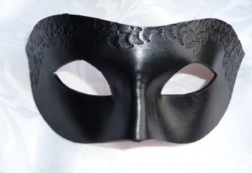Genuine Handmade Italian Hand Tooled Embossed Leather  Mask (1)